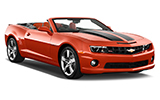 MEX Car rental Cozumel - Airport Convertible car - Chevrolet Camaro Convertible