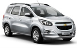 ALAMO Car rental Montevideo - City Centre Van car - Chevrolet Spin