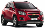 DOLLAR Car rental King Hussein Airport Aqaba Suv car - Chevrolet Trax