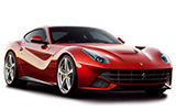 KING RENT Car rental Rome - Airport - Fiumicino Luxury car - Ferrari F12 Berlinetta