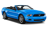BUDGET Car rental Fredericksburg -north Convertible car - Ford Mustang Convertible