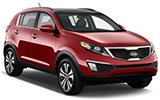 BUDGET Car rental Kuwait Downtown Suv car - Kia Sportage