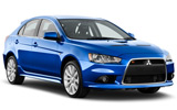 THRIFTY Car rental Amman International Airport - Queen Alia Economy car - Mitsubishi Lancer