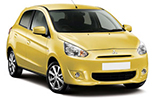 MEX Car rental Puerto Morelos Roo - Hotel Now Jade Mini car - Mitsubishi Mirage