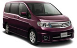NISSAN Car rental Osaka - Kansai Airport Van car - Nissan Serena
