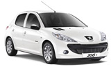 DOLLAR Car rental Queen Alia - Airport Economy car - Peugeot 206