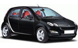 BUDGET Car rental Bra - City Centre Economy car - Smart Forfour
