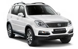THRIFTY Car rental King Hussein Airport Aqaba Suv car - Ssangyong Rexton