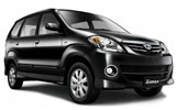 BUDGET Car rental Durban Van car - Toyota Avanza
