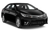 BUDGET Car rental Queen Alia - Airport Compact car - Toyota Corolla