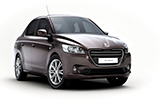 DOLLAR Car rental Nes Tziona Fullsize car - Peugeot 301